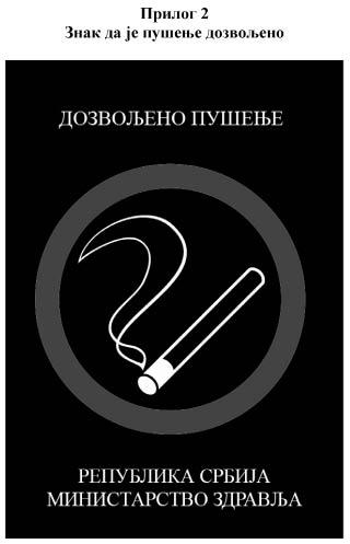 znak da je pušenje dozvoljeno