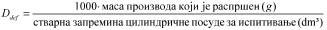 pravilnik o aerosolnim rasprsivacima - formula gustina rasprsivanja sadrzaja