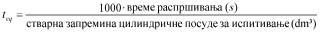 pravilnik o aerosolnim rasprsivacima - formula vremenski ekvivalent