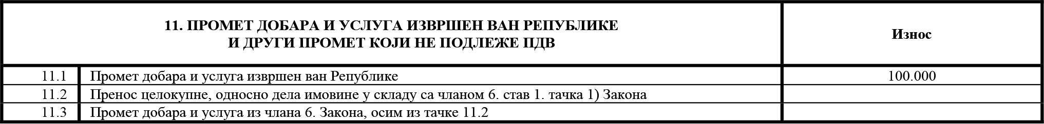 uputstvo PU obrazac POPDV primer 132