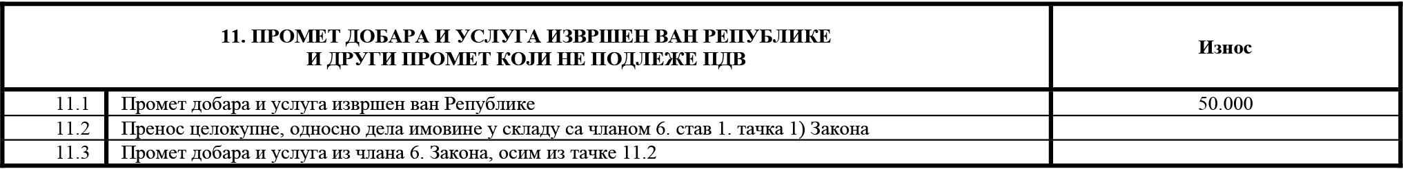 uputstvo PU obrazac POPDV primer 133