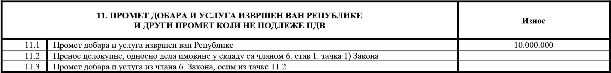 uputstvo PU obrazac POPDV primer 134