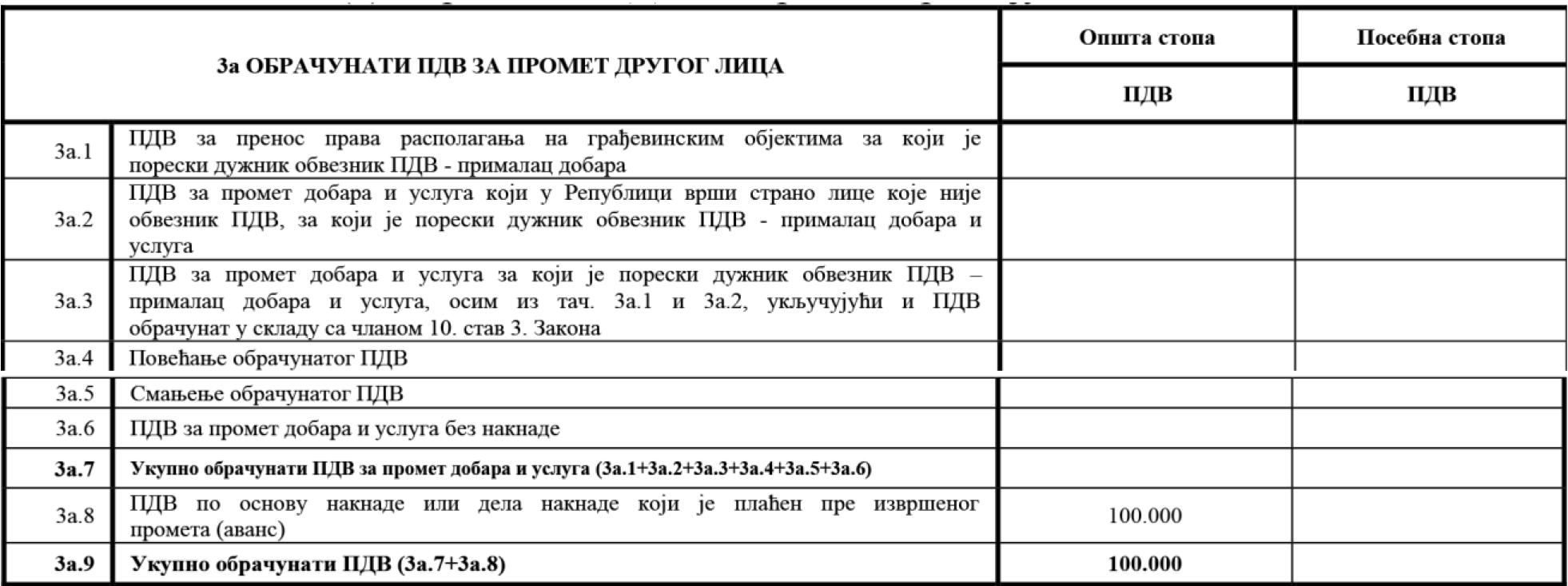 uputstvo PU obrazac POPDV primer 76 - 1