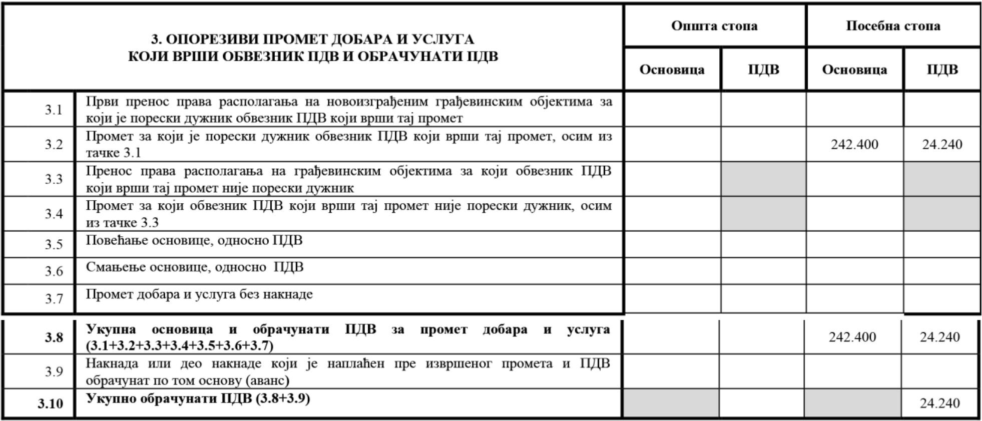 uputstvo PU obrazac POPDV primer 78 - 1.1
