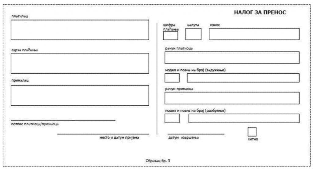 elementi na obrascima platnih naloga na papiru 2